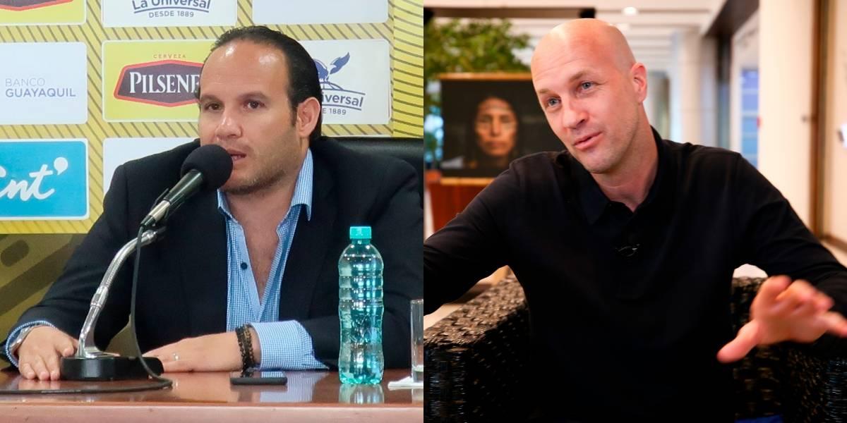 Francisco Egas solicitó autorización para pedir renuncia a Jordi Cruyff