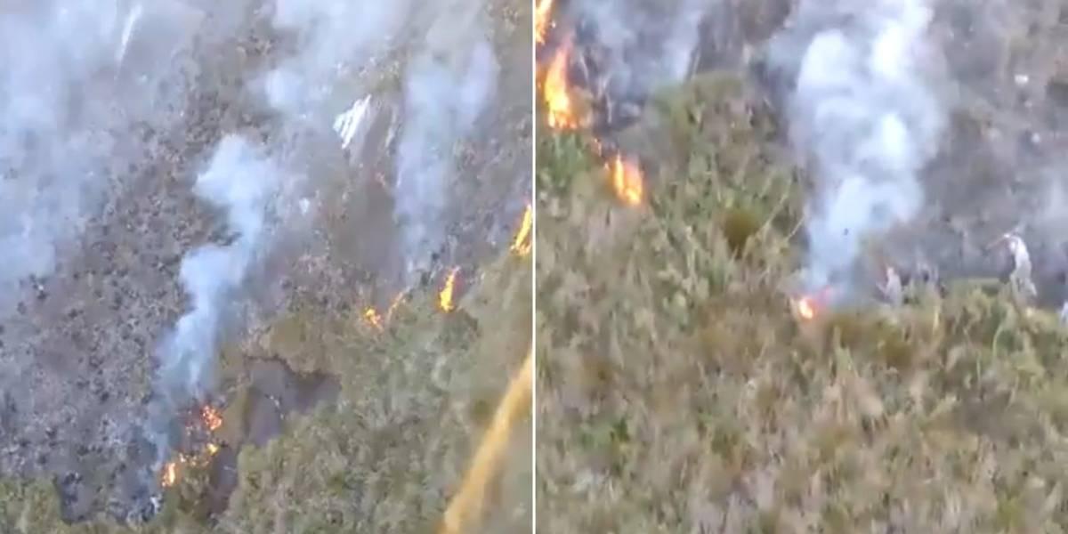 Bombeiros encaram quarto dia para apagar incêndio na serra da Mantiqueira