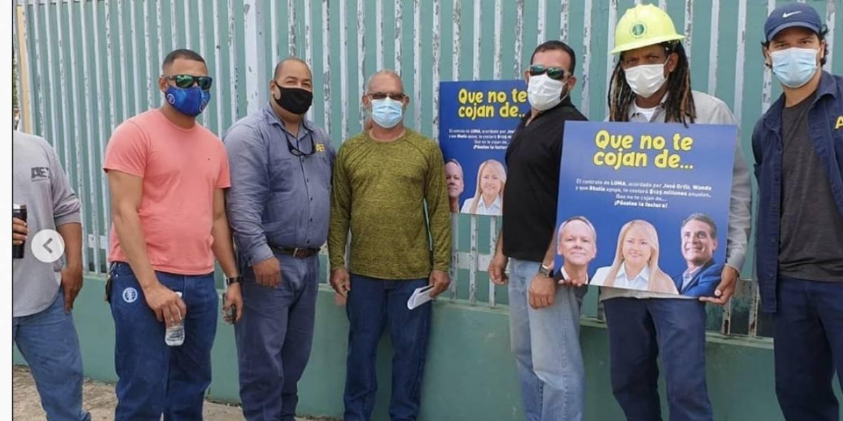 Trabajadores de la UTIER se movilizan a piquetear a Luma
