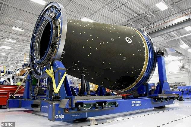 La posible estación espacial militar de Estados Unidos.