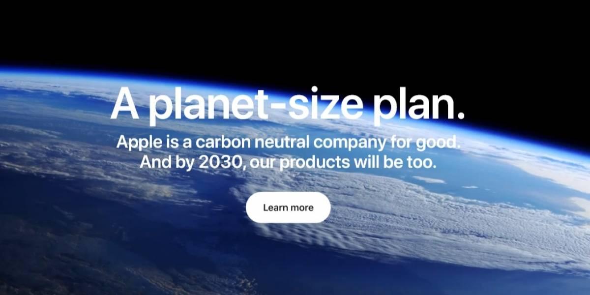 Apple se compromete a eliminar el carbón de su cadena de abastecimiento