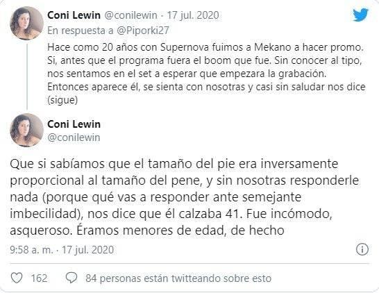 Las publicaciones en Twitter de Coni Lewin