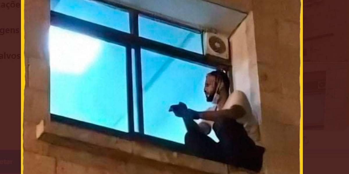 Covid-19: homem escala prédio do hospital para se despedir da mãe pela janela