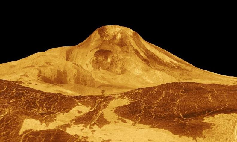 Posible volcán en Venus