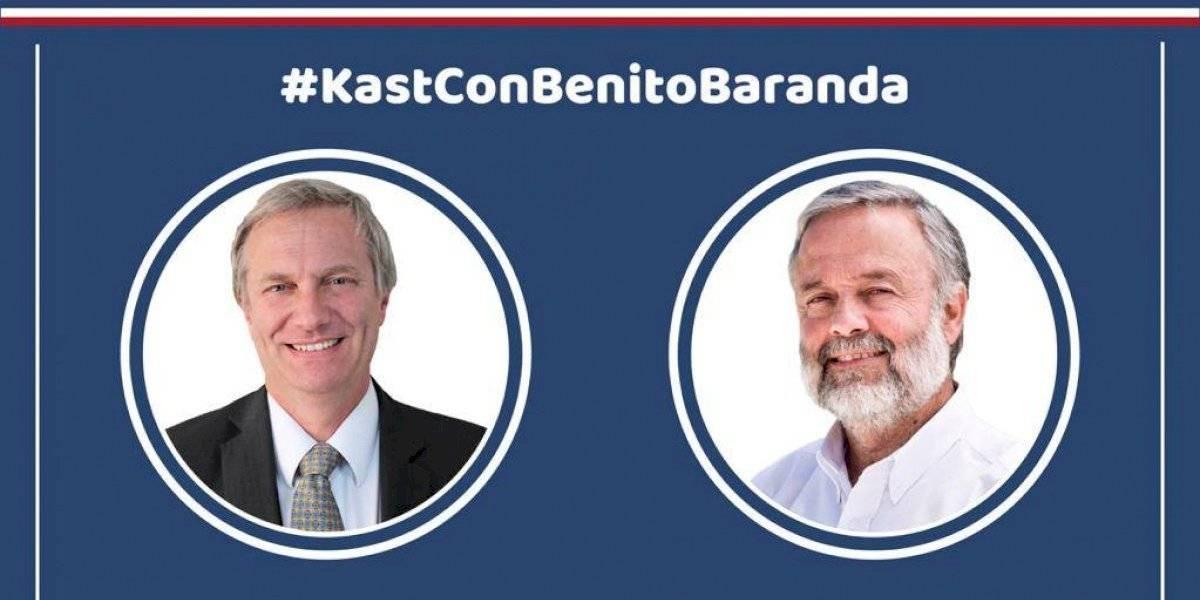 José Antonio Kast entrevistará esta noche a Benito Baranda