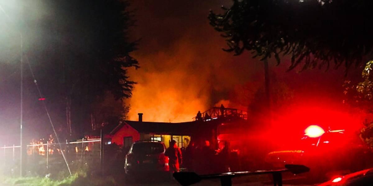 Otro ataque incendiario provoca la destrucción de una escuela en Tirúa