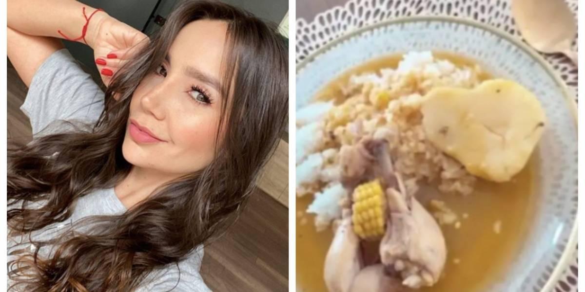 (Video) La rabia de Paola Jara porque se burlaron de su sudado de pollo