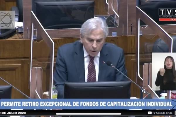 """Moreira en su intervención por el retiro de fondos de AFP: """"Yo, el peor de todos, reitero mi apoyo a este proyecto"""""""