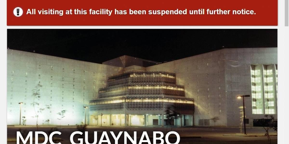 Oficial de custodia de cárcel federal de Guaynabo asegura no se les ha puesto en cuarentena