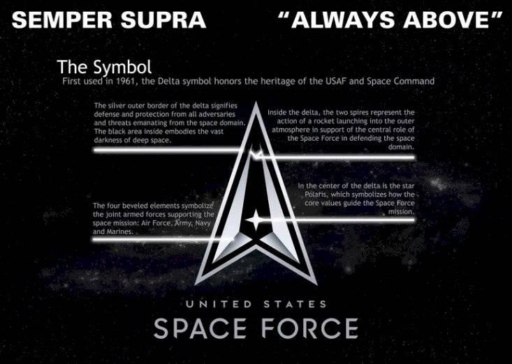 El logo de la Fuerza Espacial, similar al de la Flota Estelar de Star Trek