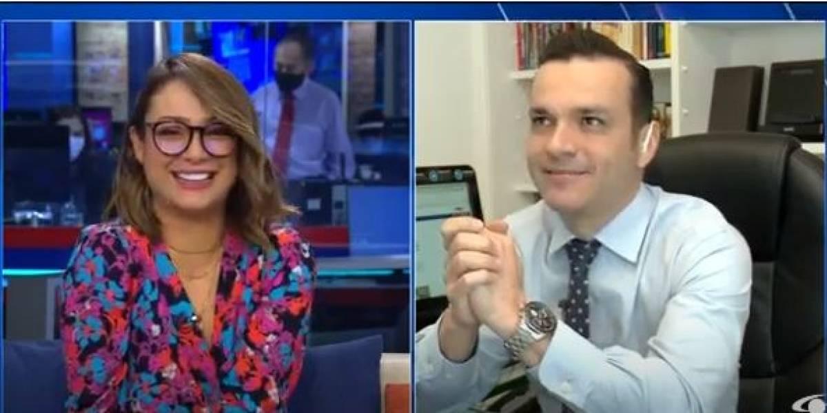 ¿Obligaron a Juan Diego Alvira a cortar la amistad con Mónica Jaramillo, por lo menos en 'Noticias Caracol'?