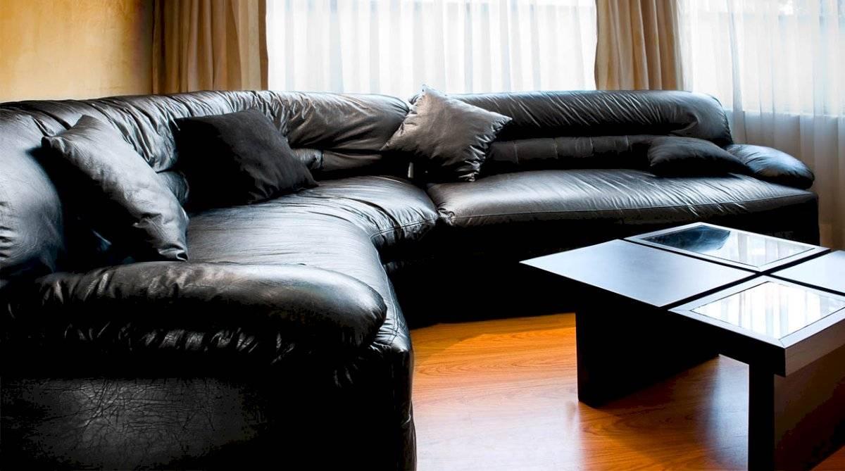 Los muebles y sillas de cuero son ideales para la decoración del hogar