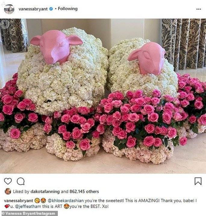 Regalo floral de Khloé Kardashian