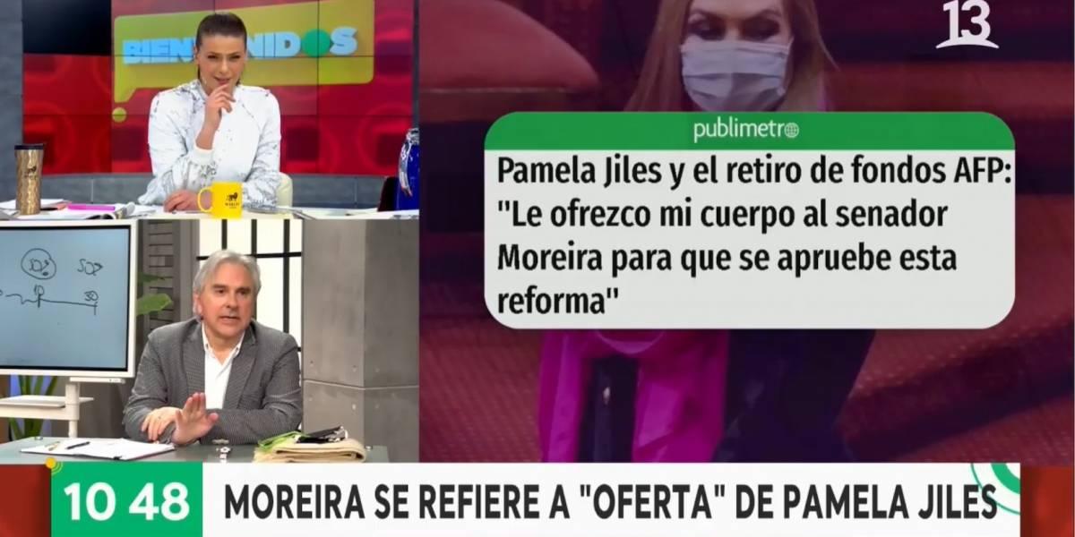 """Senador Moreira critica a Pamela Jiles tras ofrecerle su cuerpo: """"Las feministas y gente de oposición no dijeron absolutamente nada"""""""
