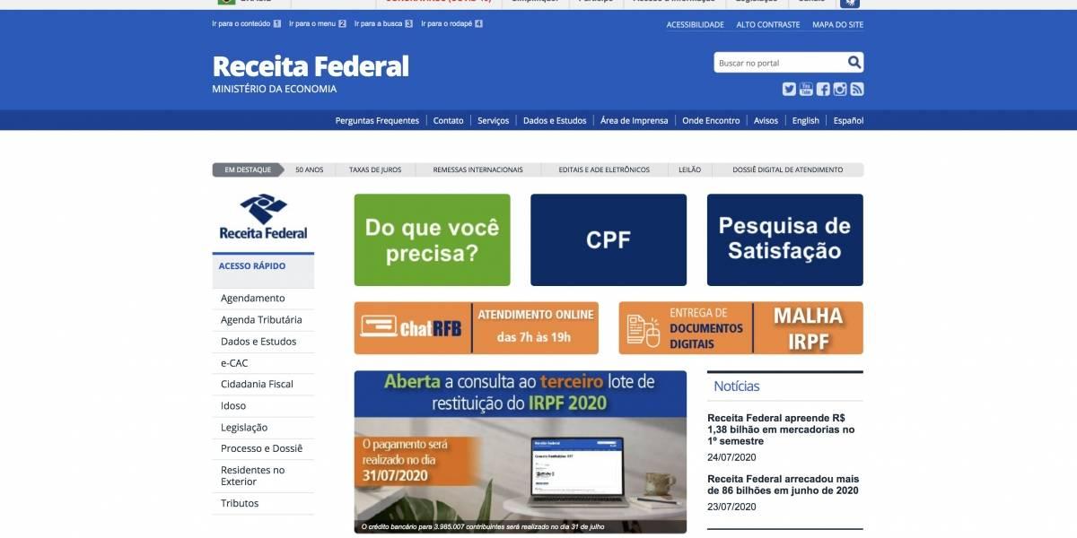 IRPF 2020: Liberada a consulta ao 3º lote de restituição do Imposto de Renda