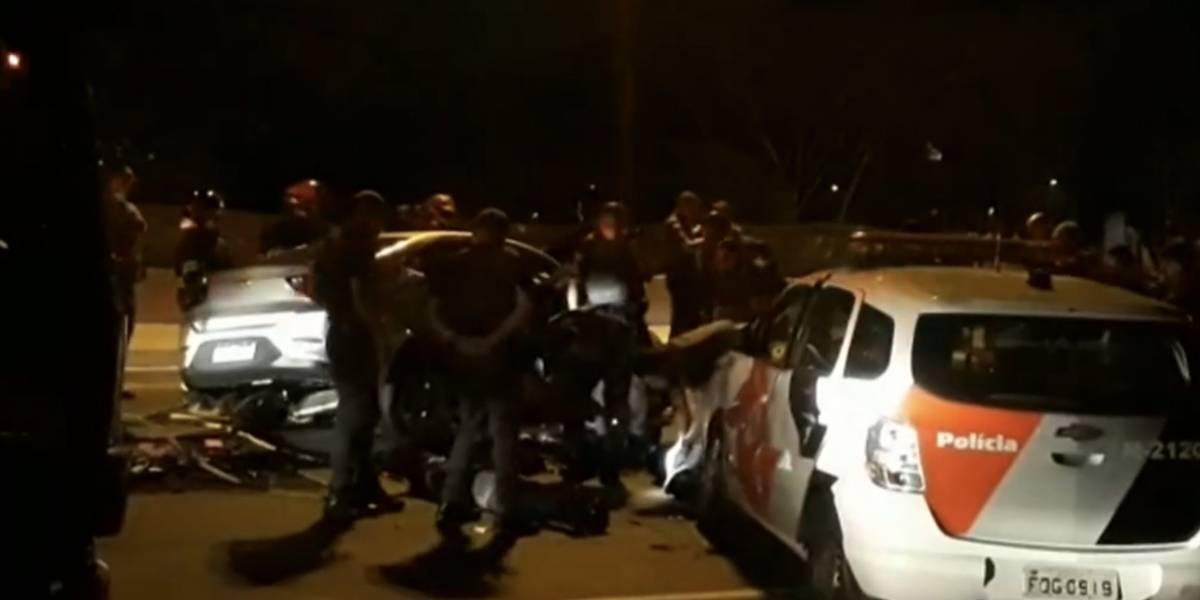 Acidente em perseguição policial deixa seis feridos na zona leste