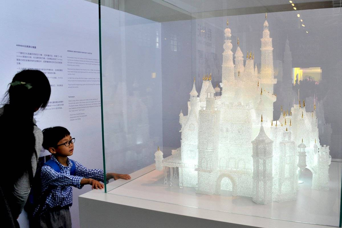 Castillo de Disney en vidrio