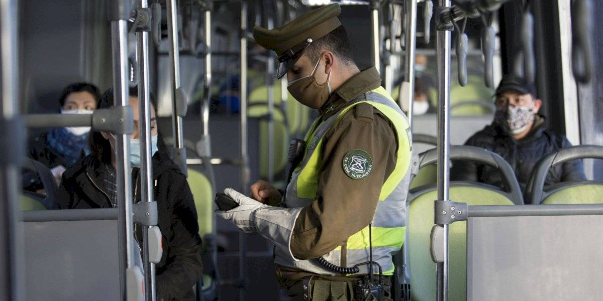 Carabineros: 1.679 retenidos por infracciones a las medidas sanitarias