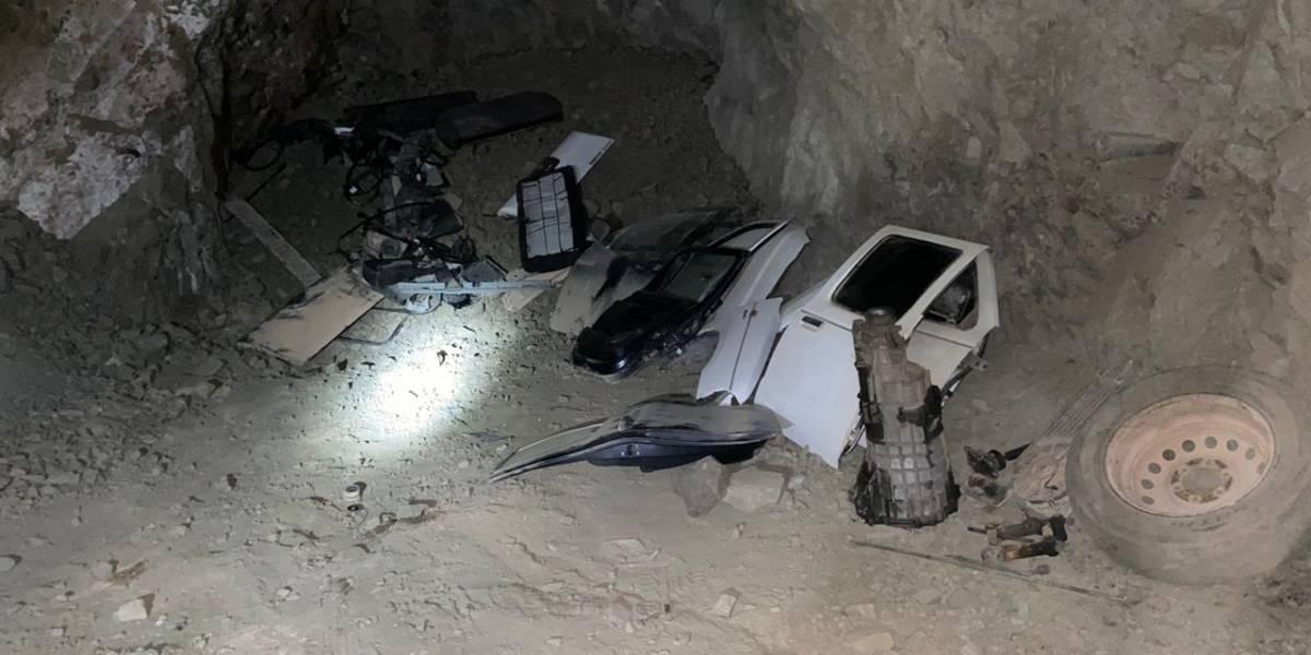 Insólito: ocupaban pique minero como delivery de repuestos de autos