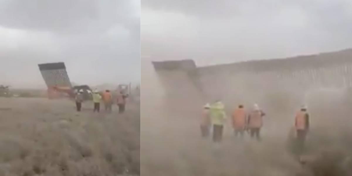Páneles del muro fronterizo no fueron derribados por Hanna: EU