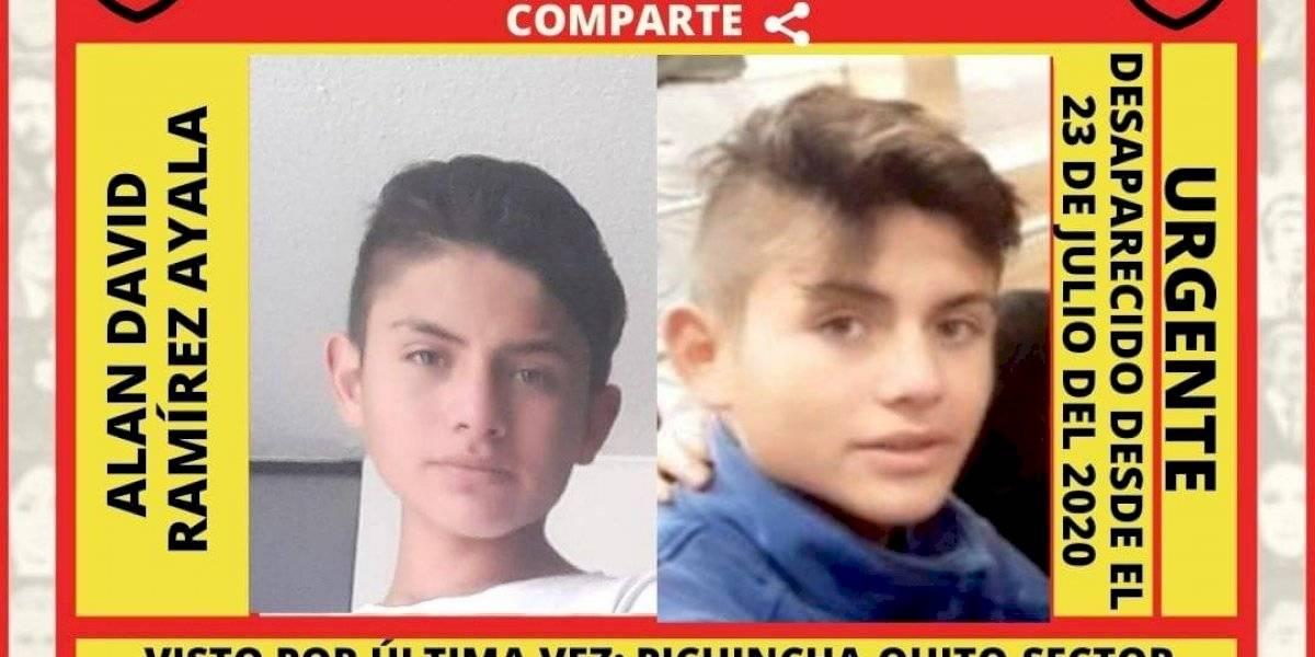 Localizan a Alan David Ramírez con vida, adolescente desaparecido desde el 23 de julio