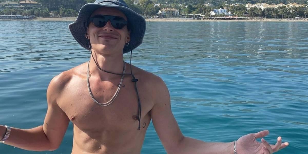 Novas fotos de Arón Piper em Ibiza que causaram furor nas redes sociais