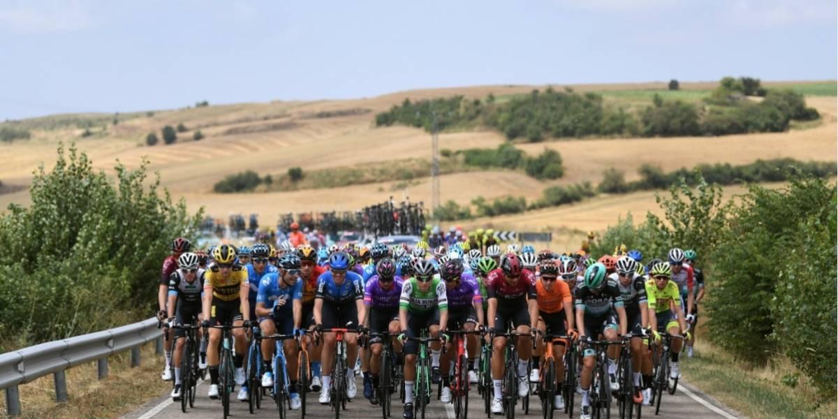 Richard Carapaz llegó en el puesto 14 en la primera etapa de la Vuelta a Burgos