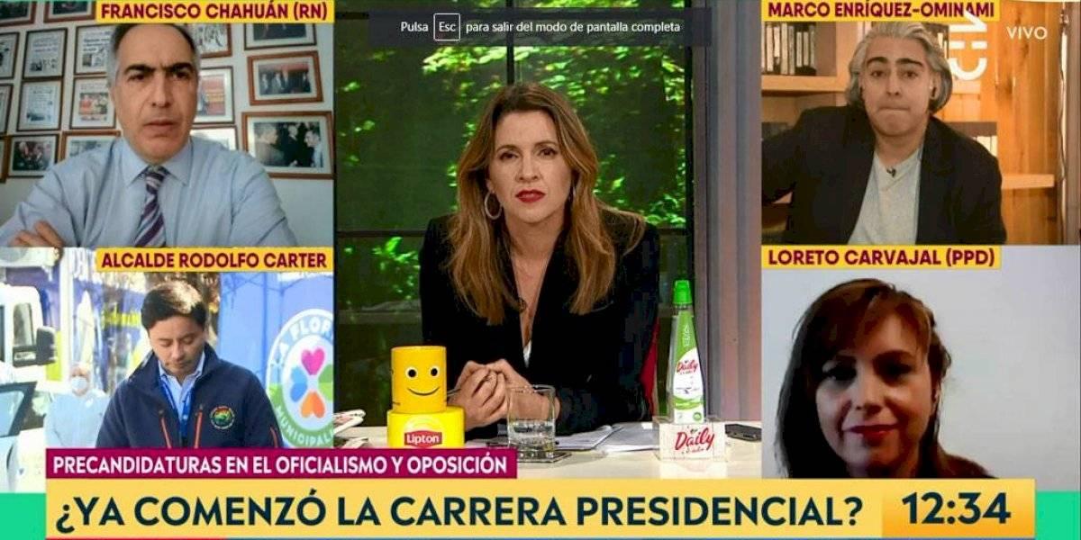 """Zoom y sus cosas: hijo de la diputada Loreto Carvajal se filtró en el panel de """"Contigo en la Mañana"""" con sus ejercicios de matemáticas"""