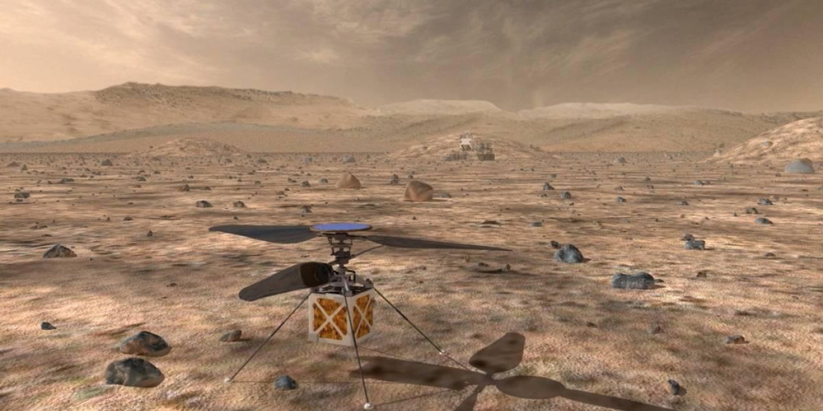 Un helicóptero pequeño en el Mars rover intentará el primer vuelo en otro mundo
