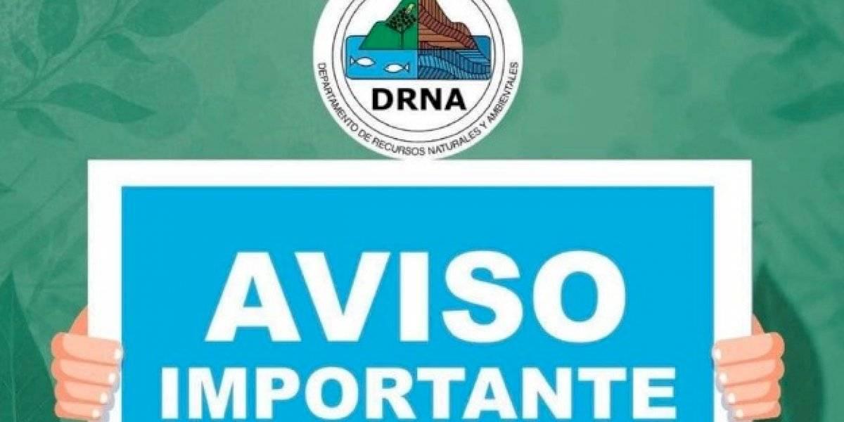 DRNA anuncia cierre de áreas naturales
