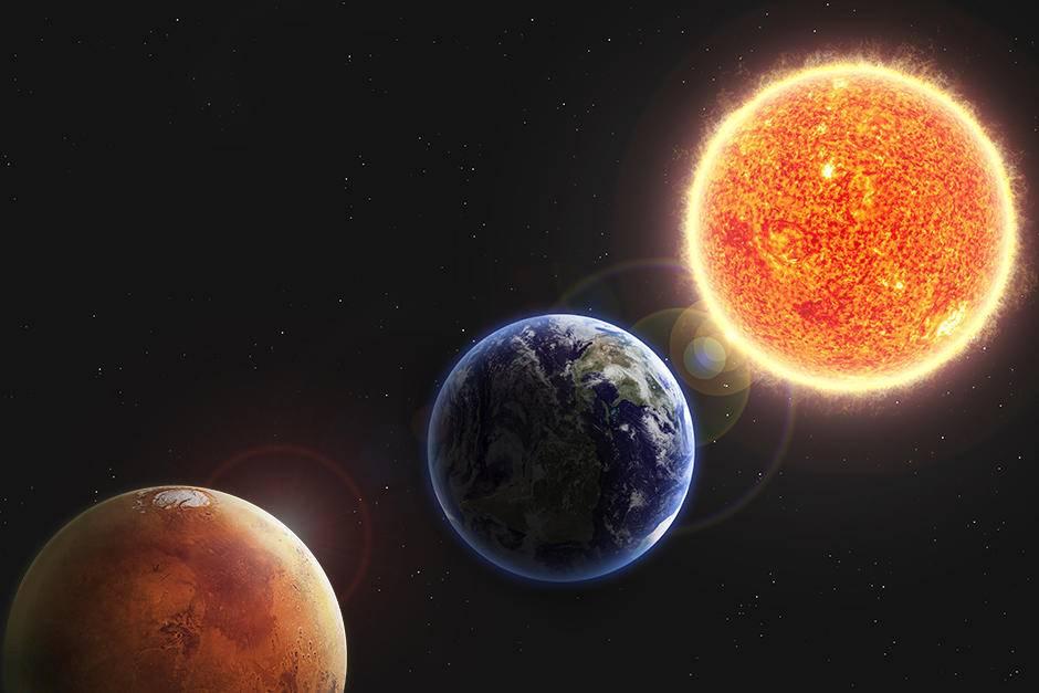 Sol Tierra Marte
