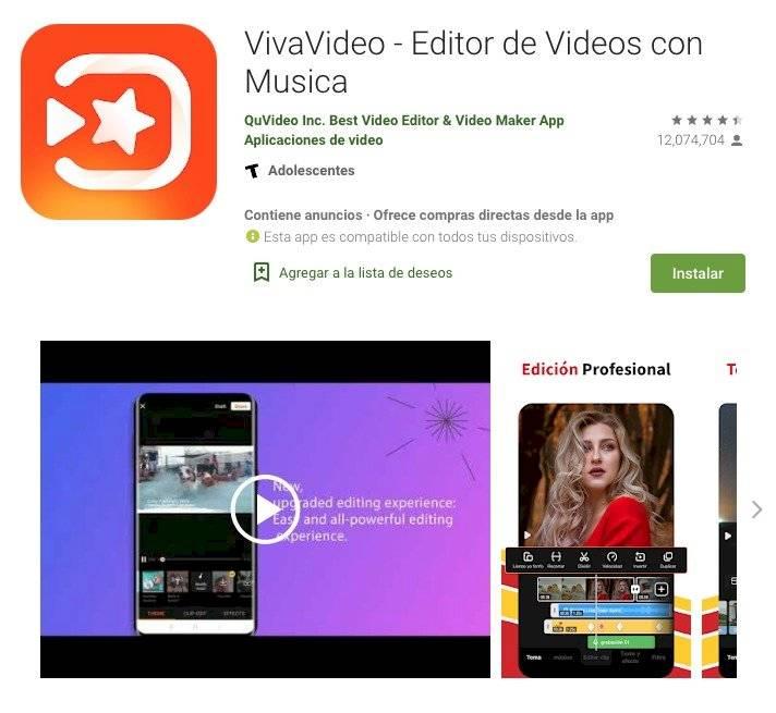 Edición de videos apps
