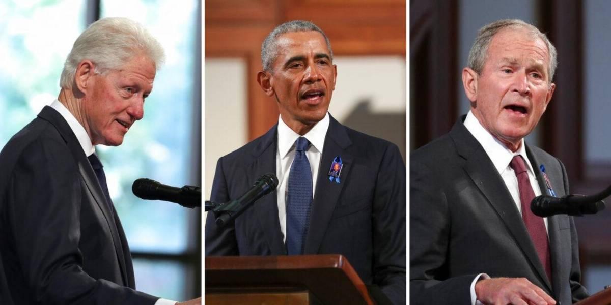 Clinton, Obama y Bush se reúnen en funeral de John Lewis