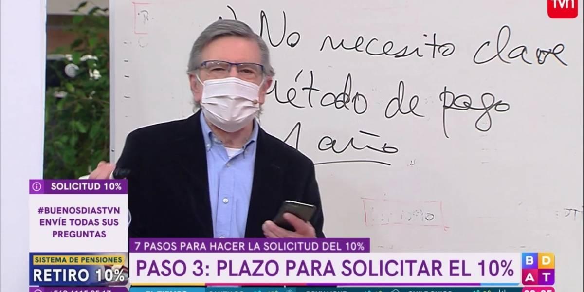 """""""Pornografía política"""": duras críticas en redes sociales a TVN por poner a Joaquín Lavín a explicar el retiro del 10%"""
