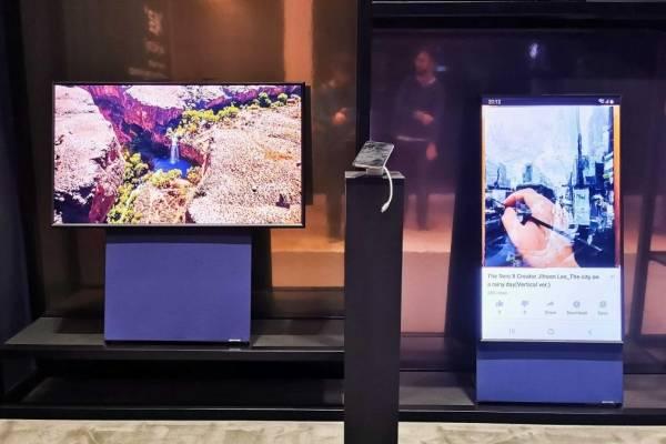 """¿Un televisor que parece un smartphone? Así es """"The Sero"""", la TV que puede ponerse en vertical"""