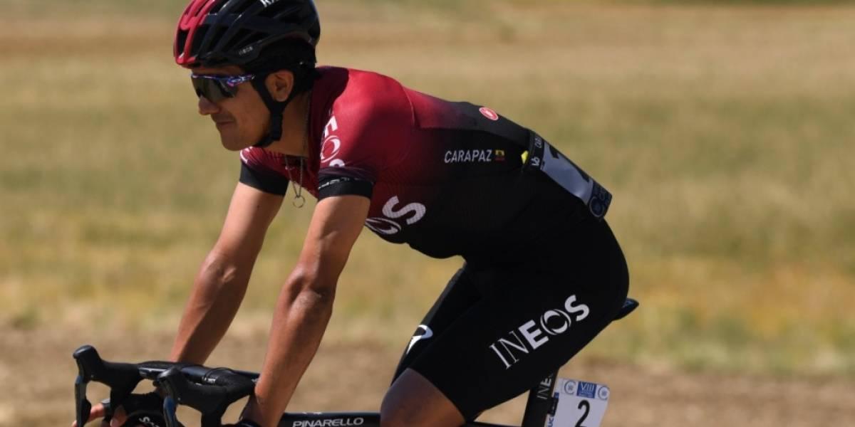 Richard Carapaz ascendió al sexto lugar de la clasificación general de la Vuelta a Burgos