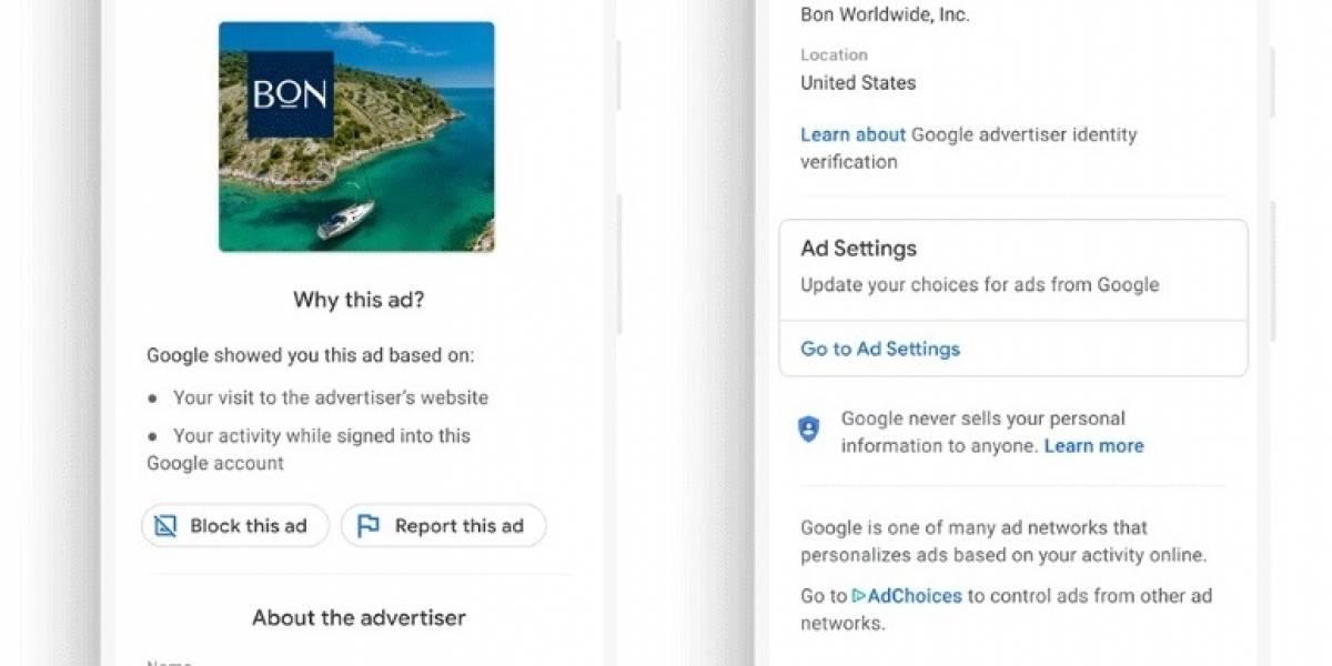 Portaltic.-Google mostrará el nombre verificado de los anunciantes en la publicidad digital