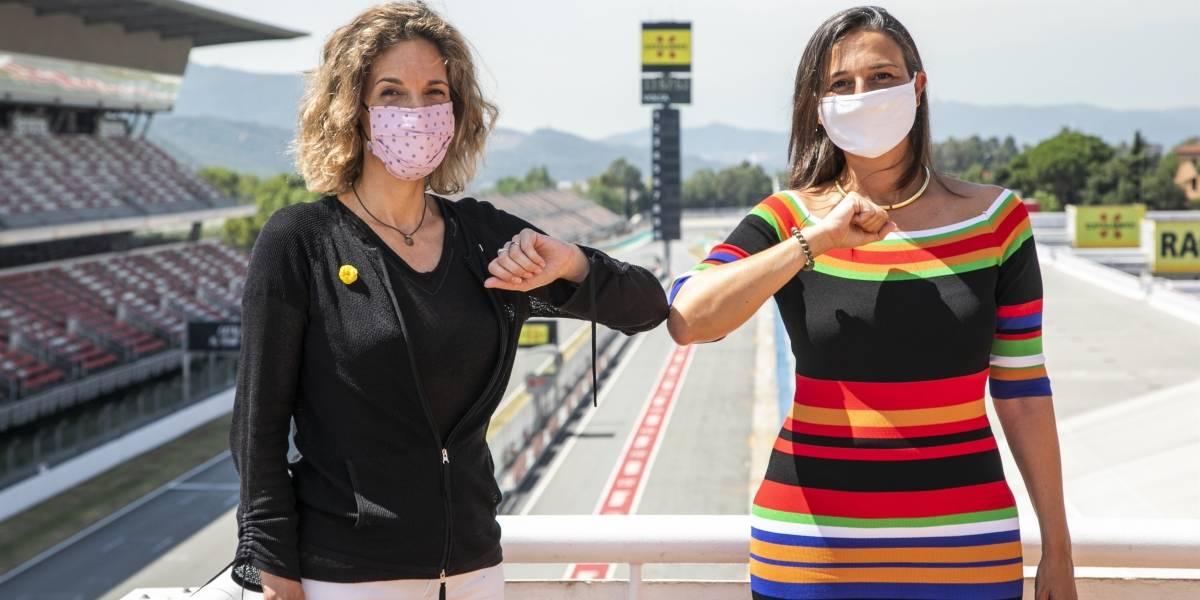 Motor.- Maria Teixidor y Josep Lluís Santamaría, presidenta y director del Circuit de Barcelona-Catalunya