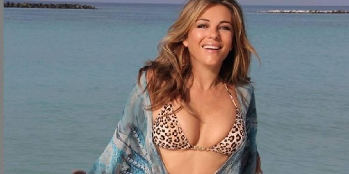 Liz Hurley sorprende a sus seguidores con sensual desnudo