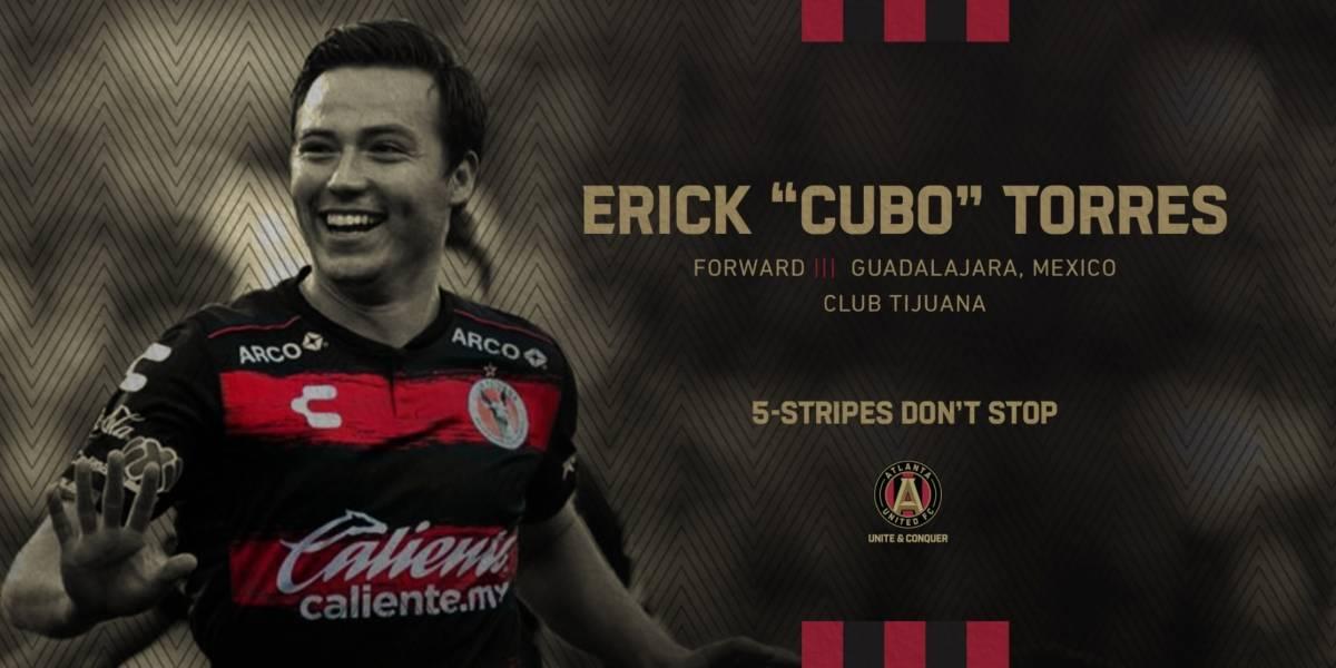 Erick Torres llega al Atlanta United como 'jugador reemplazo'