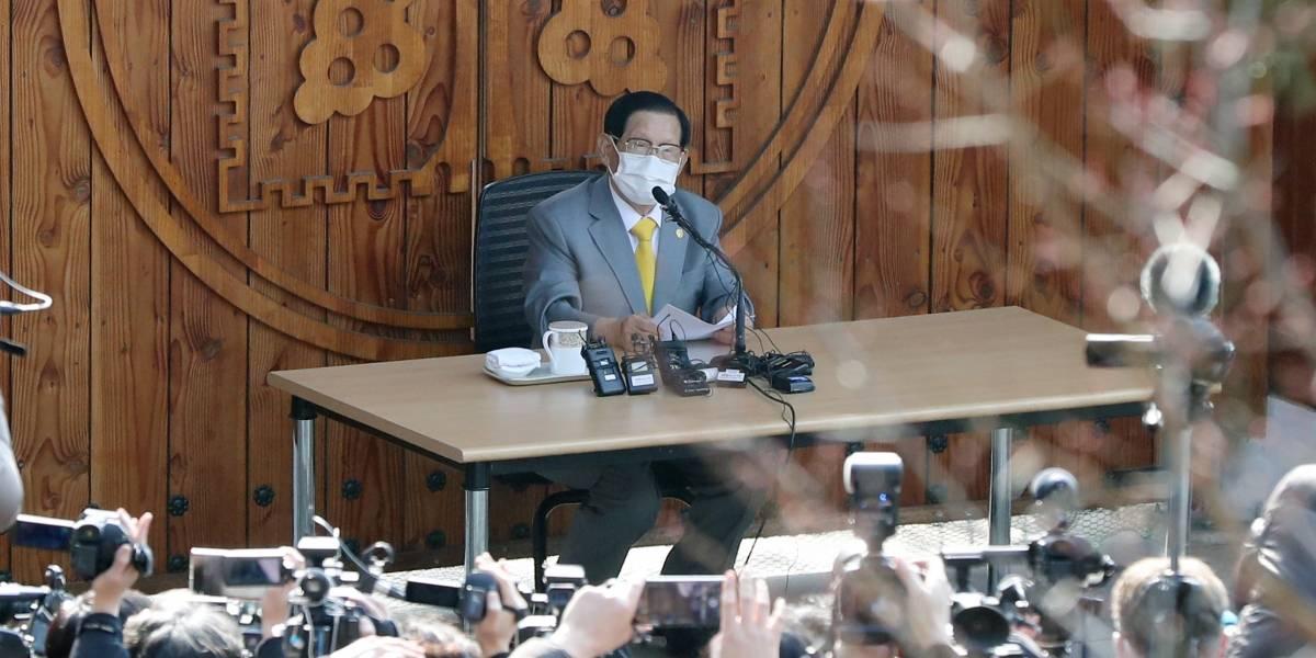 Detienen a líder de secta vinculada con casos de Covid-19 en Corea del Sur