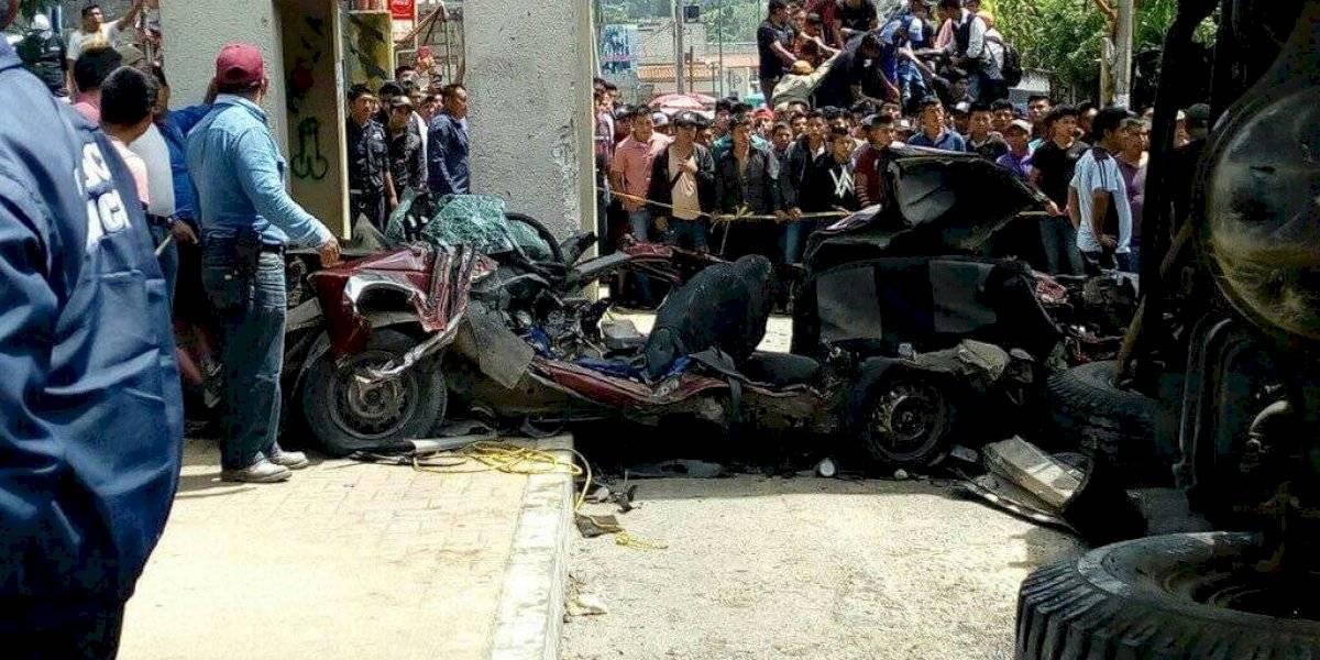 Camión del IMSS se queda sin frenos y mata a 3 personas en Chiapas
