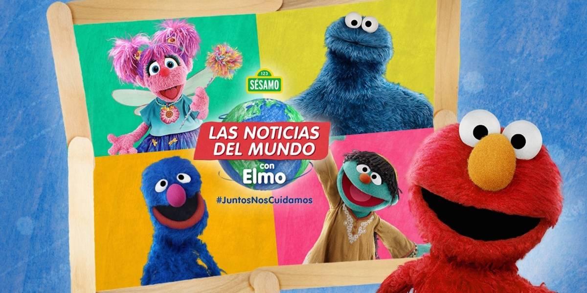 Las noticias del Mundo con Elmo acompaña con alegría y confort a las familias