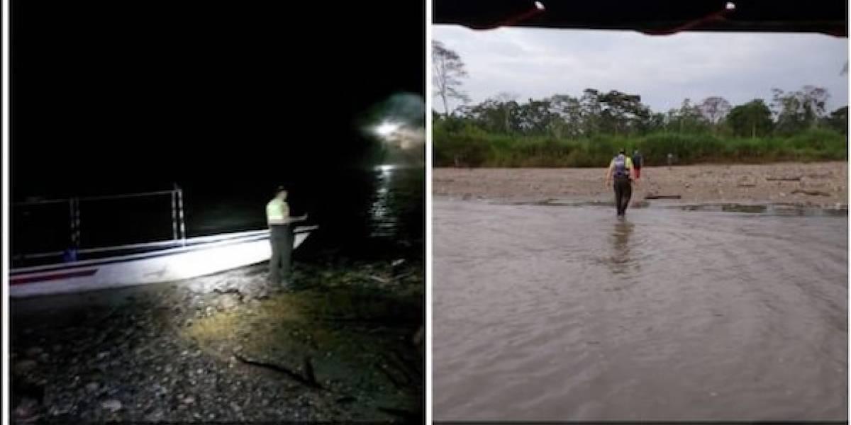 Rescatan a una mujer que cruzó el río Napo