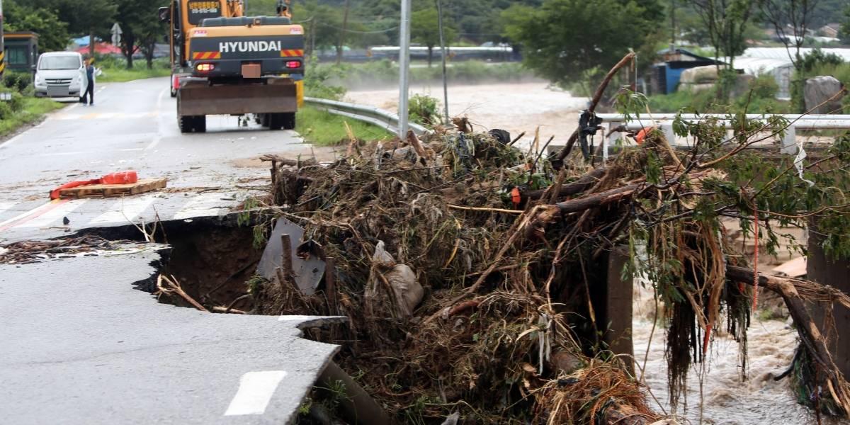 Corea del Sur.- Mueren cinco personas a causa de varios deslizamientos de tierra por las lluvias torrenciales
