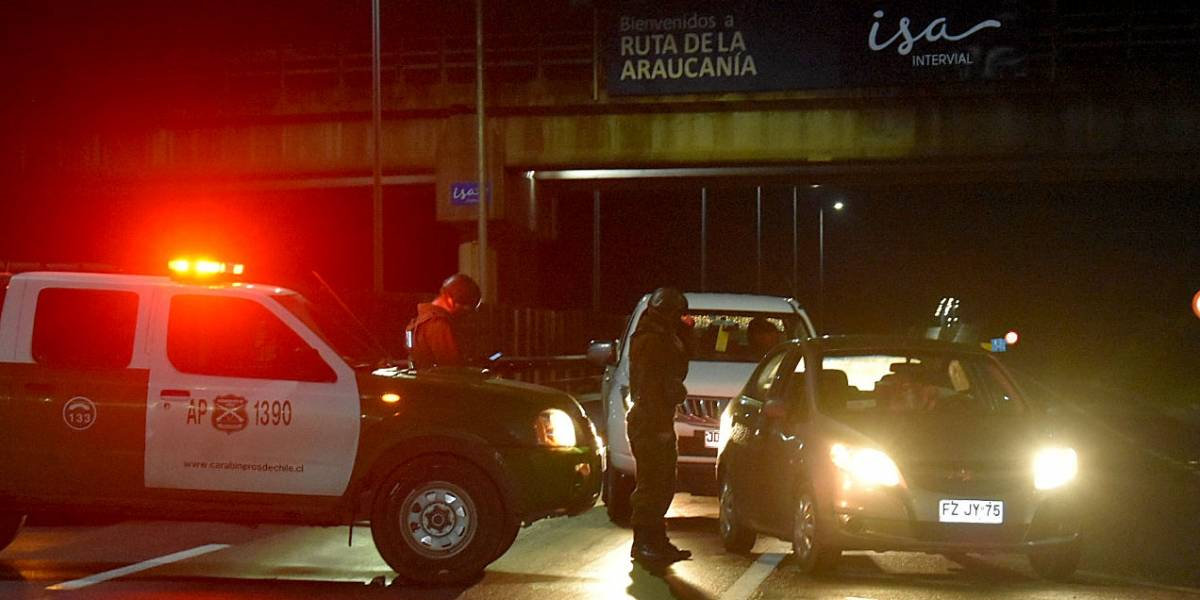 Balacera mantiene cortada Ruta 5 en Ercilla y hay un carabinero herido