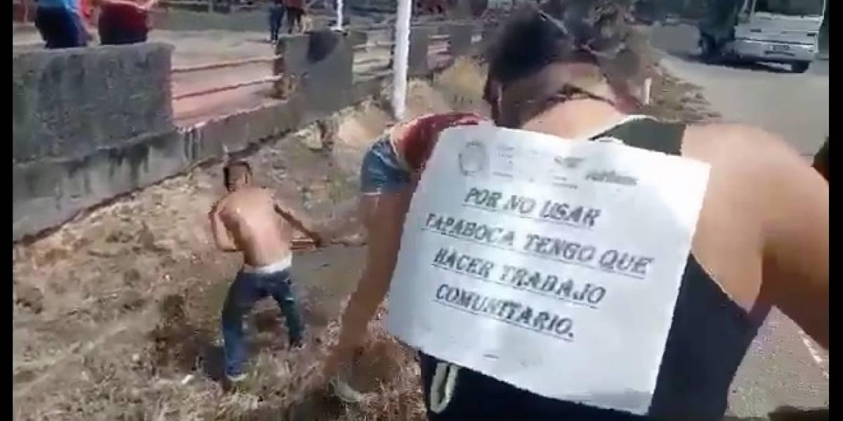 Venezuela: Trabajos forzados para los que no usan mascarillas