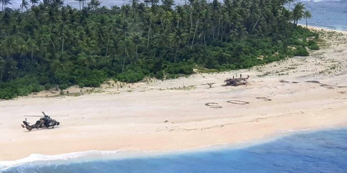 Nunca perder la esperanza: el increíble rescate de tres hombres en una pequeña isla en el Pacífico