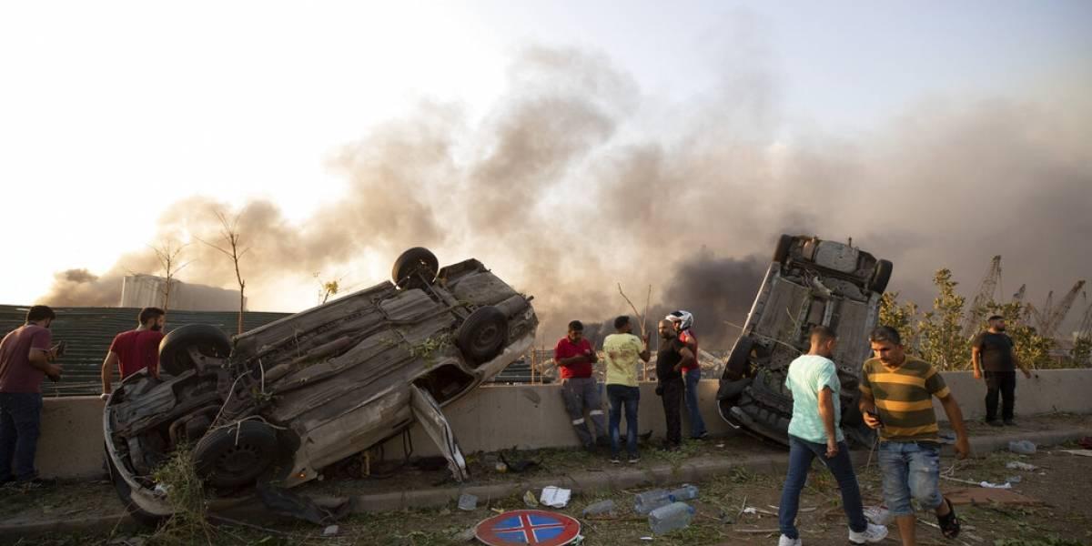 Las fotos más impresionantes que dejó la gran explosión en Beirut, Líbano