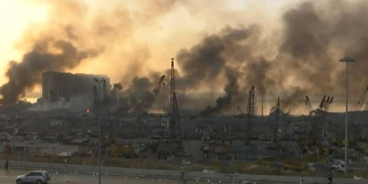 Durante y después: los videos de la impresionante explosión que azotó a Beirut